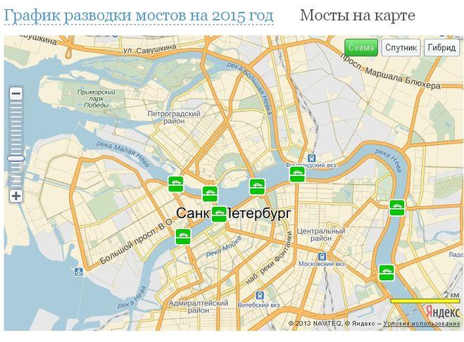подробное описание какие мосты разводят в санкт-петербурге график многие руководители