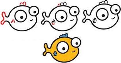 Как нарисовать кошку и рыбку поэтапно? Как нарисовать кота и рыбу поэтапно?