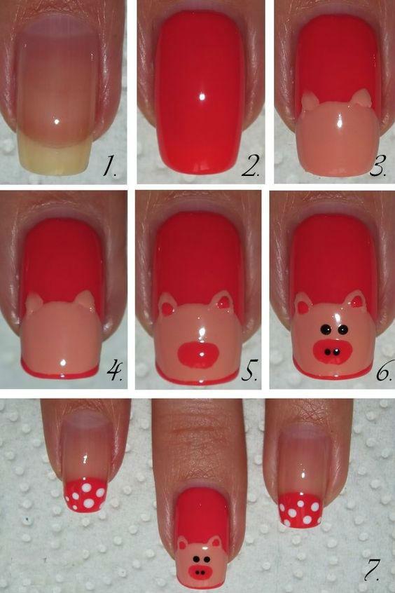 Накрасить ногти в домашних условиях пошагово 58