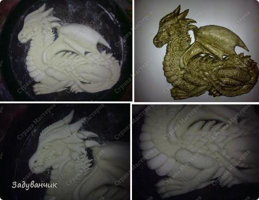 Дракон из соленого теста своими руками