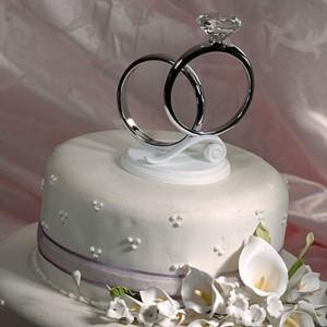 Свадебные кольца на торт своими руками 51