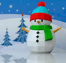 Снеговик паперкрафт своими руками