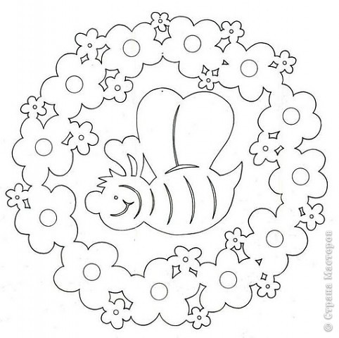 вытынанка пасхальный венок