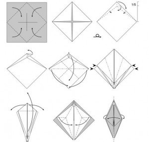 Как делать из бумаги ногти