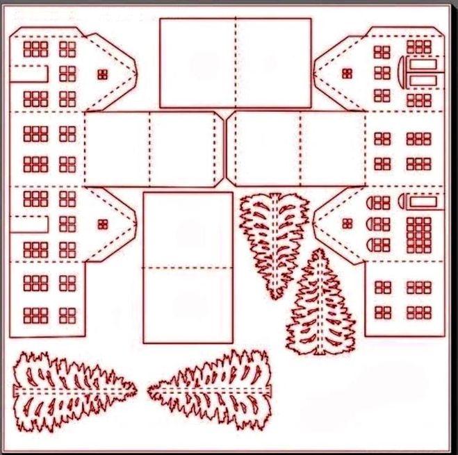 Скачать шаблоны домиков из бумаги
