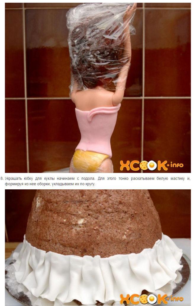 """торт из мастики """"Барби"""""""