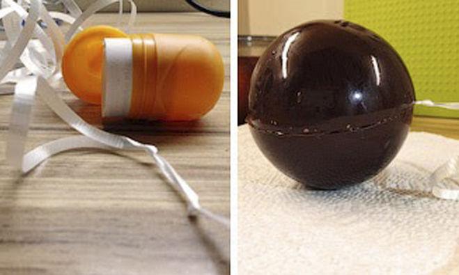 шоколадные елочные шары
