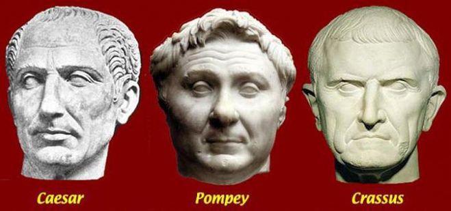 Какая трагическая смерть ожидала всех трех триумвиров первого триумвирата?