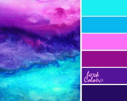 сочетается с пурпурным цветом