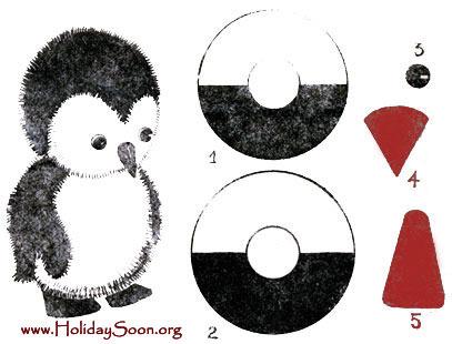 Как сделать шаблон для пингвина