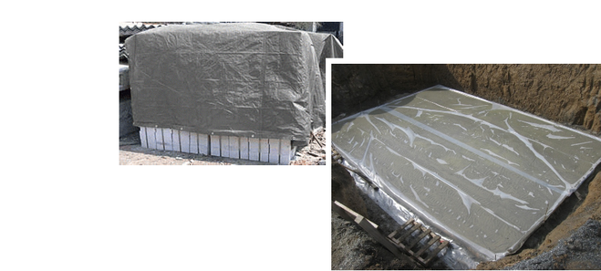 Зачем поливать бетон после заливки