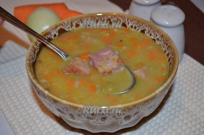 Гороховый суп с копчеными ребрышками рецепт в мультиварке пошагово 148