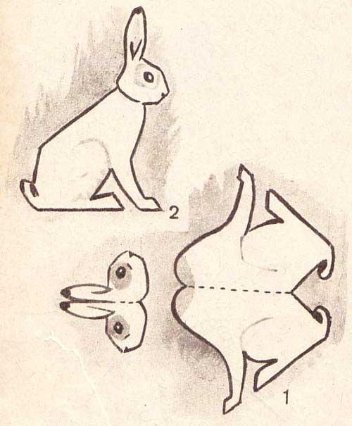 Заяц из бумаги своими руками по деталям 82