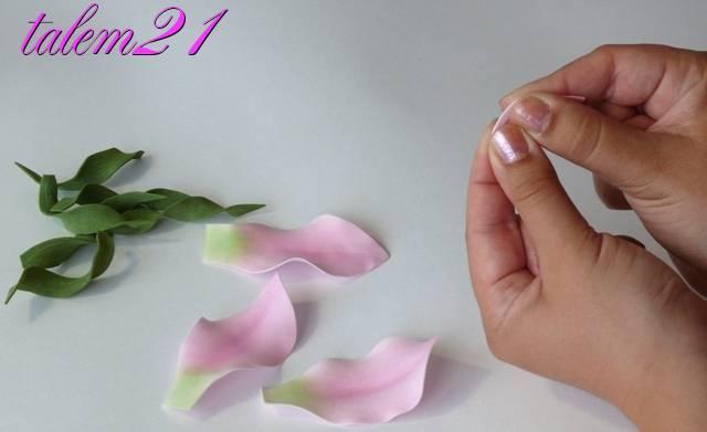 Как сделать лилию из фоамирана поэтапно