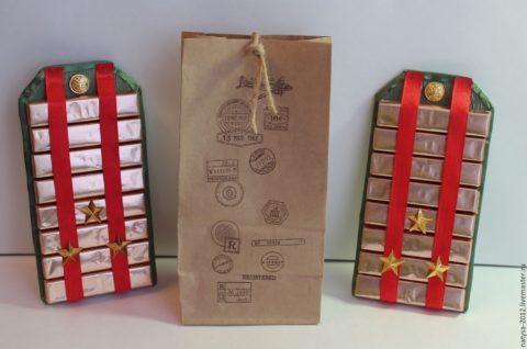 как упаковать подарок на 23 февраля, подарок мужчине на День Защитника Отечества