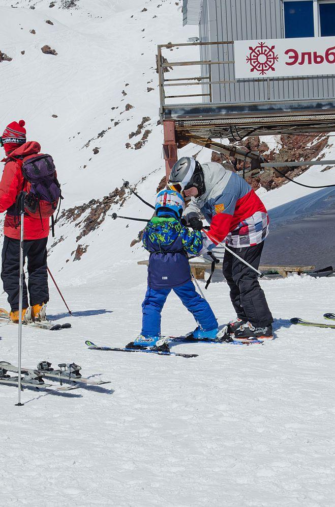 Юное поколение горнолыжников