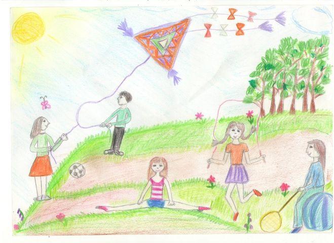 Рисунок детей которые держатся за руки