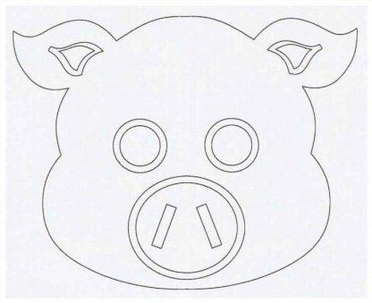 Как сделать маску свинки ?