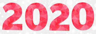 """красивые цифры """"2020"""" для поздравления с Новым годом 2020 Белой Мыши (Крысы)"""