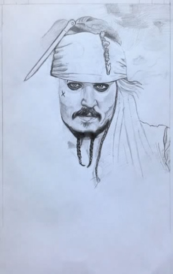 Поэтапно рисуем пиратов