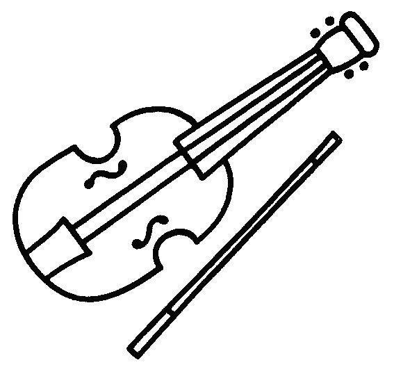 Раскраски детей скрипка