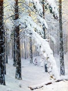 """Крыжицкий """"Лес зимой"""" описание картины"""