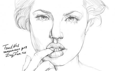 Как нарисовать портрет карандашом поэтапно анджелина джоли