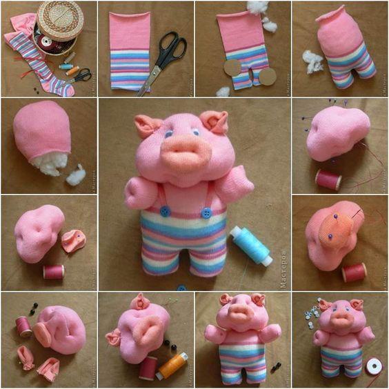 свинка из носок