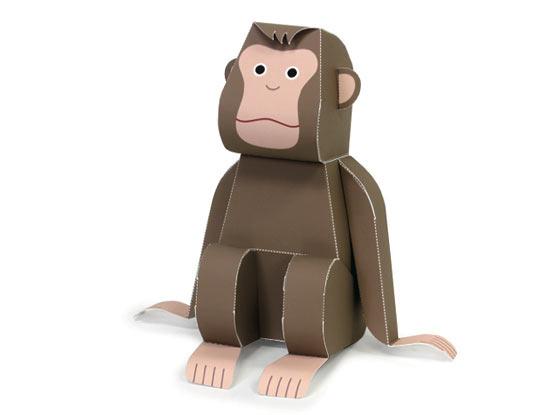 Объёмная обезьяна из бумаги своими руками
