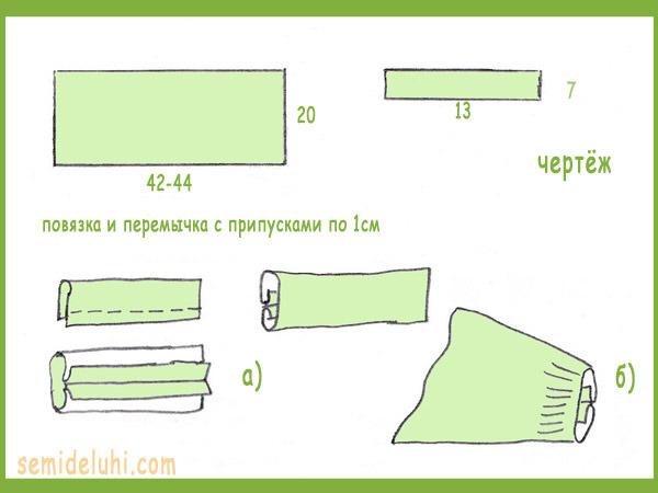 Как сшить повязка на голову