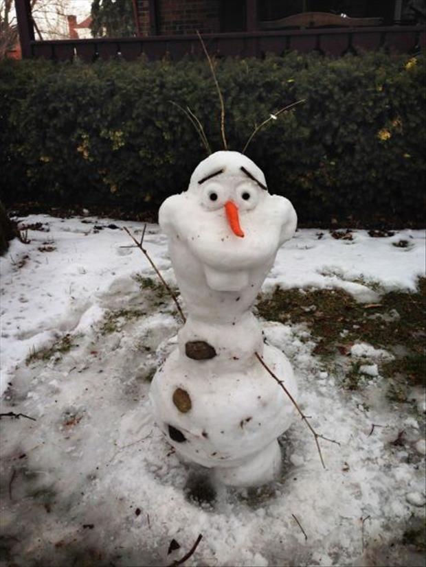 Лепим снеговиков из снега своими руками 717