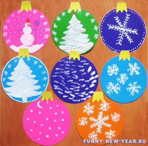 Новогодние игрушки из цветной бумаги и картона своими руками