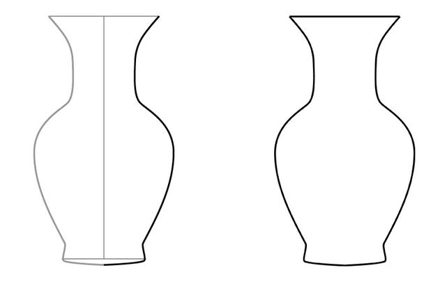 Как нарисовать красивую вазу для цветов