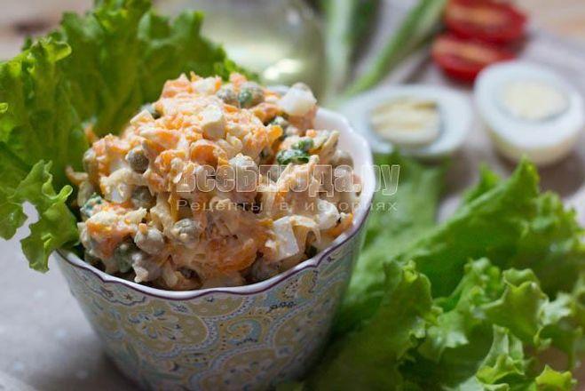 Салат из варёной моркови рецепт с