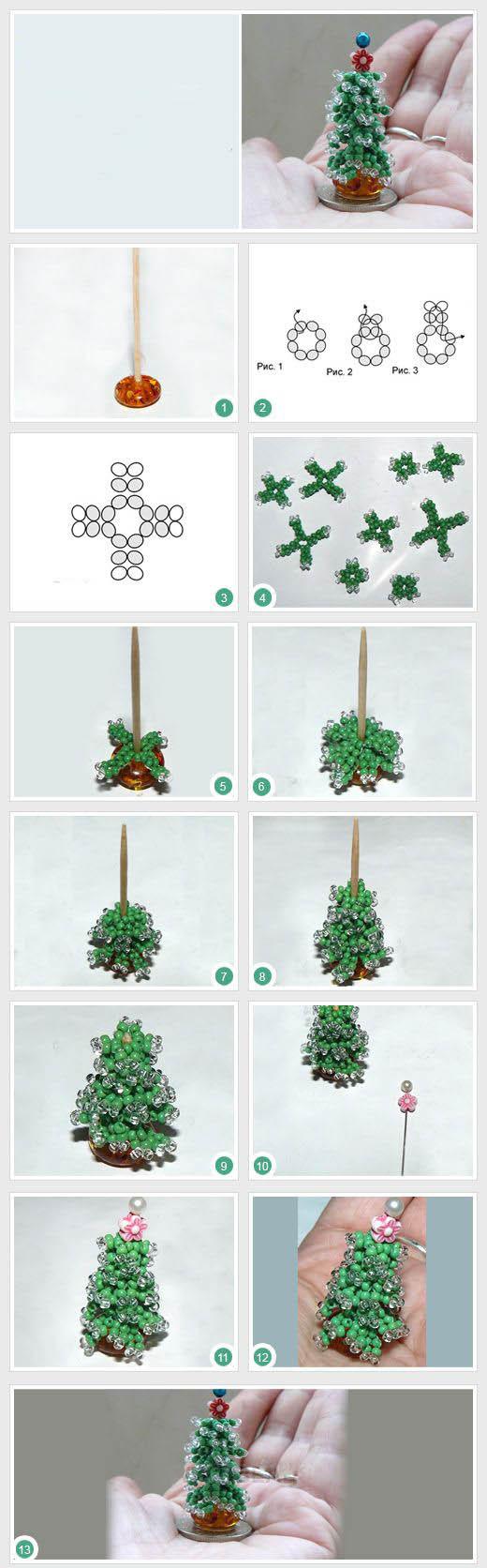 Как из бисера сделать ёлочку