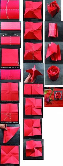 оригами роза мастер-класс схема