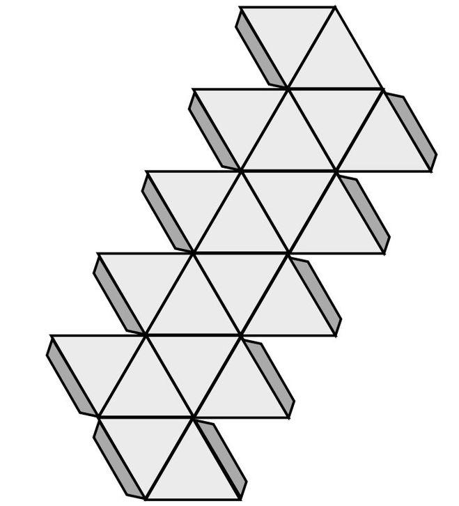 Поделки из геометрических фигур - разнообразие и варианты 25