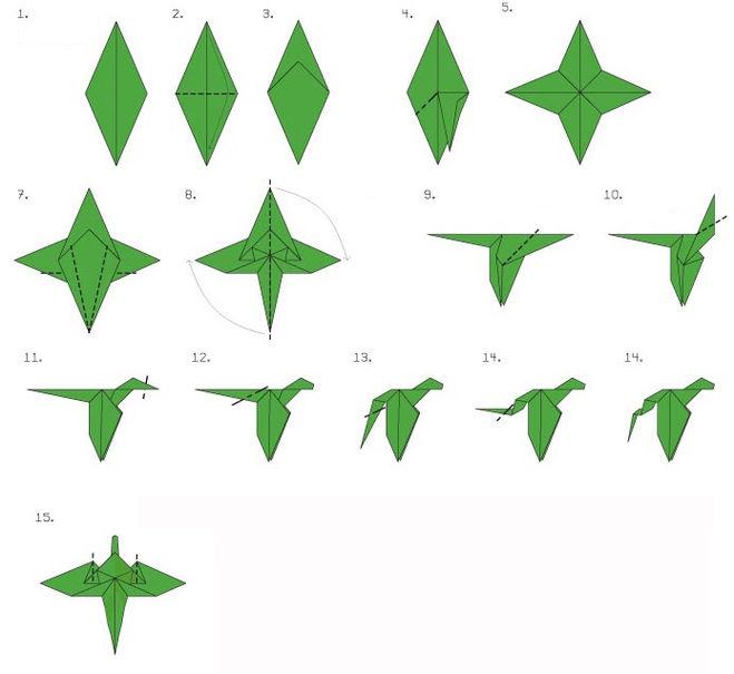 Как сделать дракончика оригами фото 790