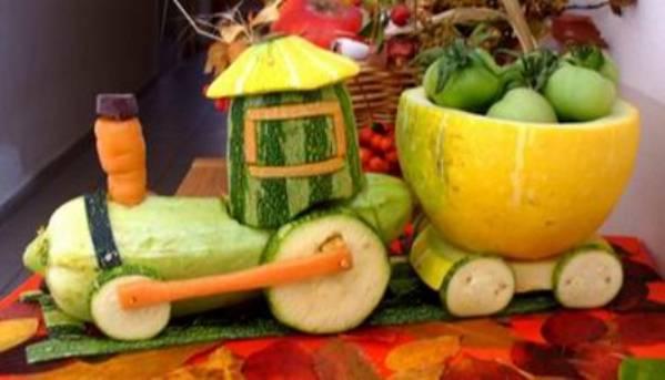 Поделка из овощей своими руками в детский сад фото