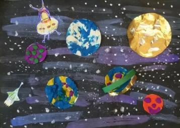 Как назвать рисунок, детскую поделку о космосе, ко Дню космонавтики?