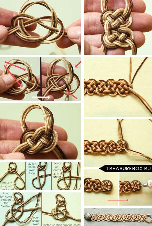 Браслеты своими руками из шнурков
