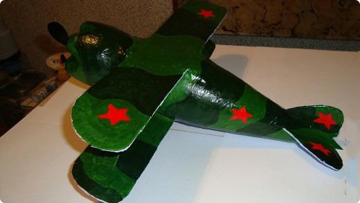 Поделка самолет в технике папье-маше