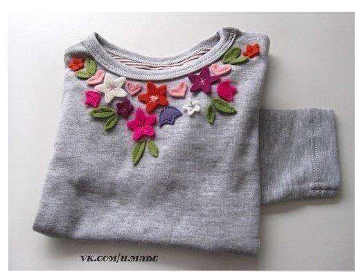 как своими руками украсить свитер фото