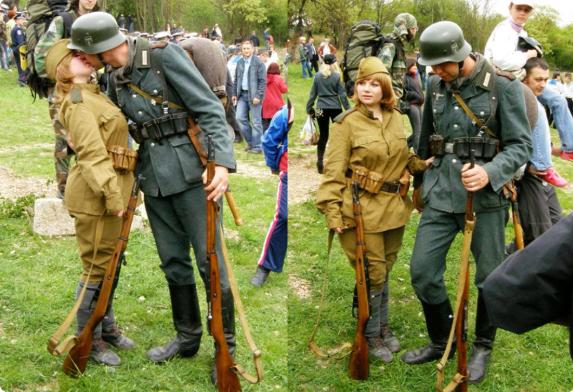 немец целует советскую медсестру фейк