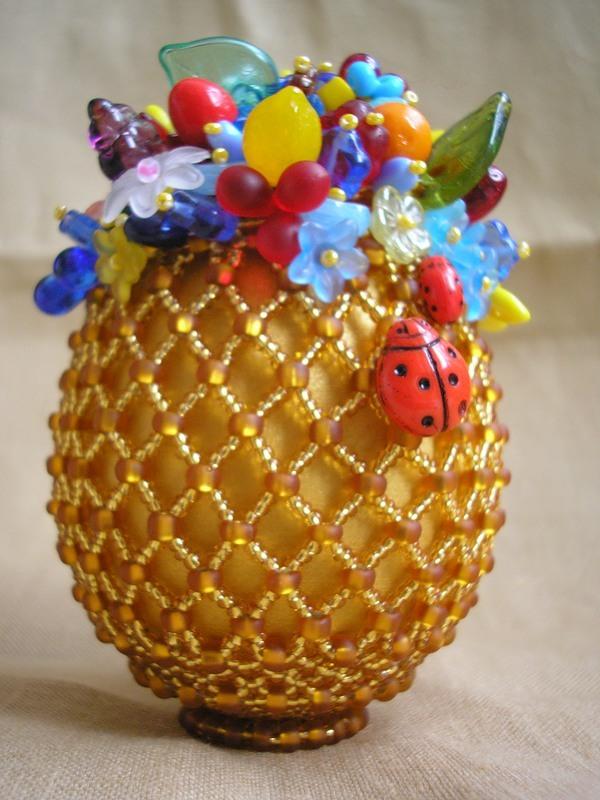 Яйца фаберже из бисера мастер класс фото #12
