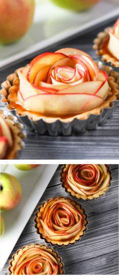 Как сделать розы их яблоками 79