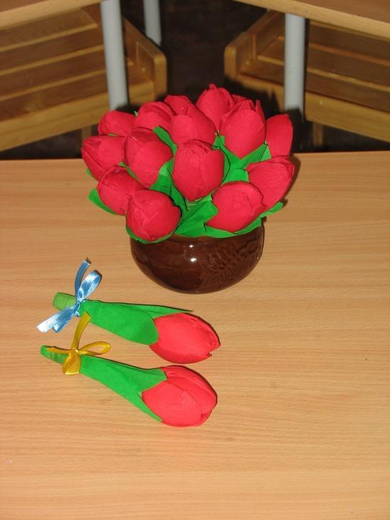 Поделка тюльпана своими руками