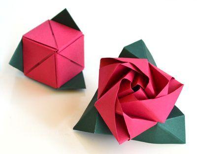 роза-куб оригами