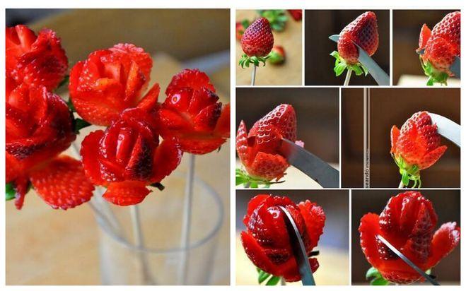 розы из клубники