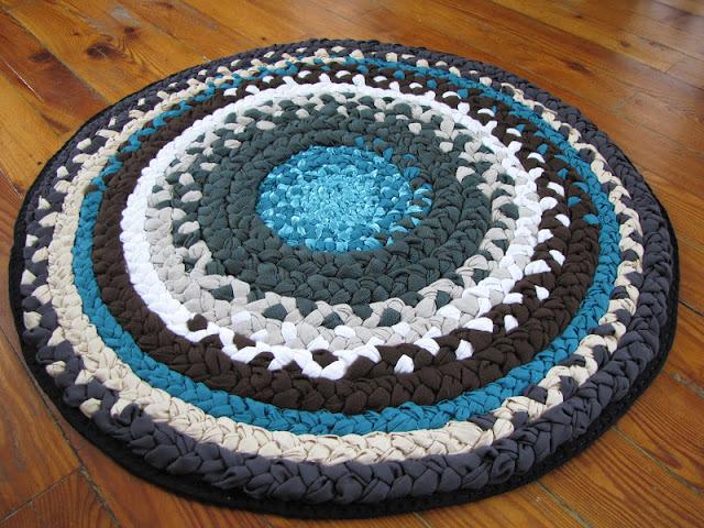 Плетение ковриков из лоскутков своими руками мастер класс